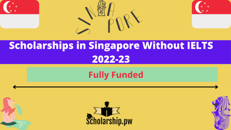 Scholarships in Singapore Without IELTS 2022-23